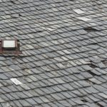 Illinois Slate Tile Roof in Clarendon Hills - Damaged tiles
