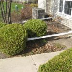 Illinois roofing contractor - always extend your downspouts away from the property