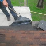 Flat roof Zion IL - Torch-down modified bitument type roof installation