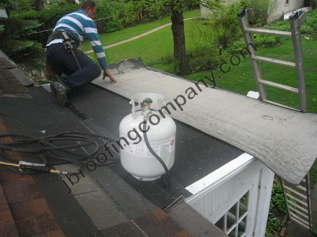 Torch Down Roofing Installation In Illinois By JB Roofing   Barrington  Roofing Contractor   Call 847 639 7756